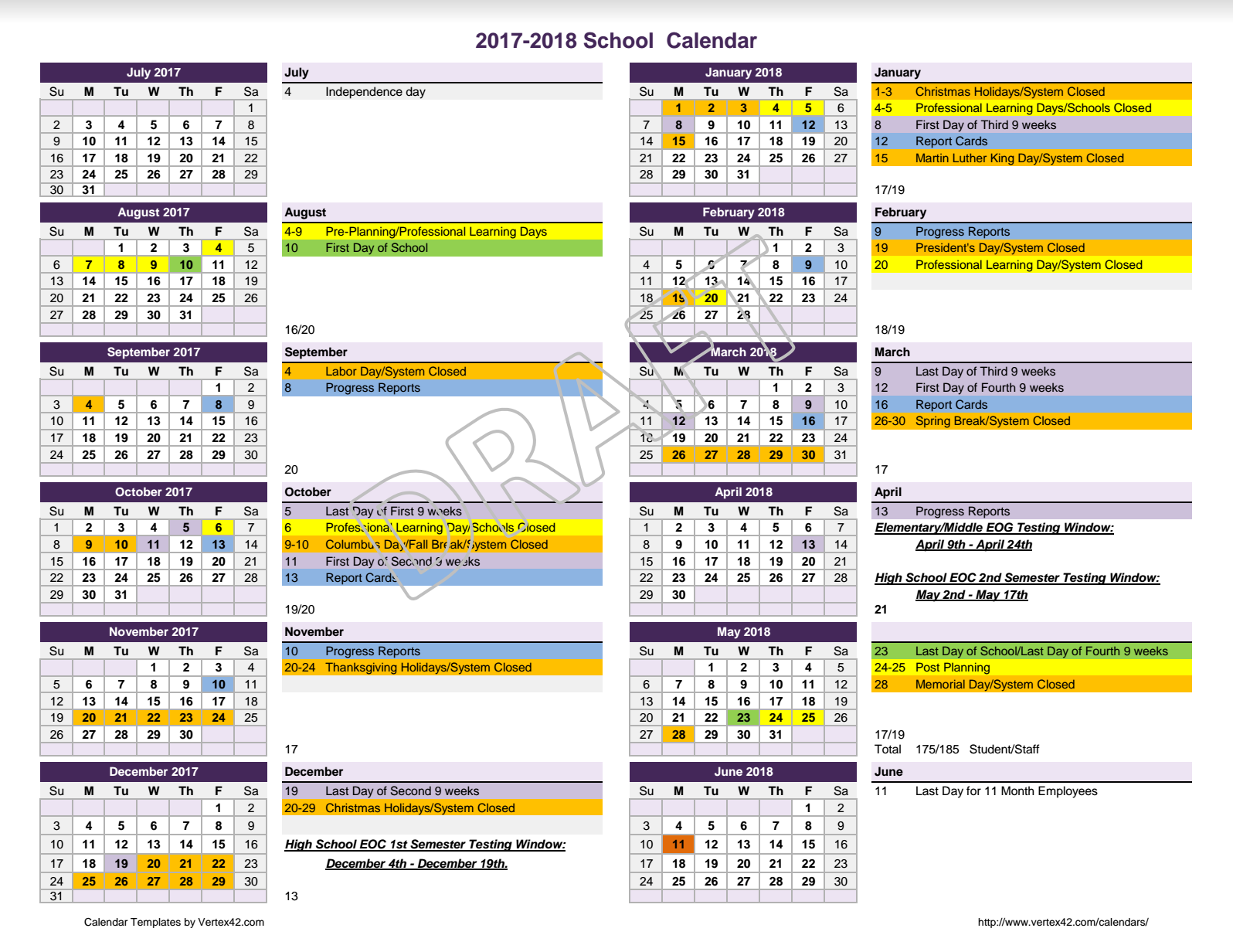 School Calendar 2018 Brunei : Calendar for review meriwether county school