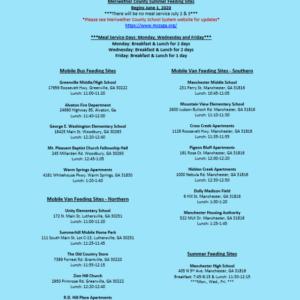 Meriwether County School – Summer Feeding Sites