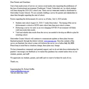 Meriwether County School 2020-2021 Survey