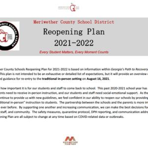 2021 – 2022 Reopening Plan